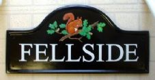 Custom House Sign – arched top with hand painted pictorial